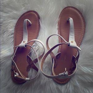 White thong strap sandal
